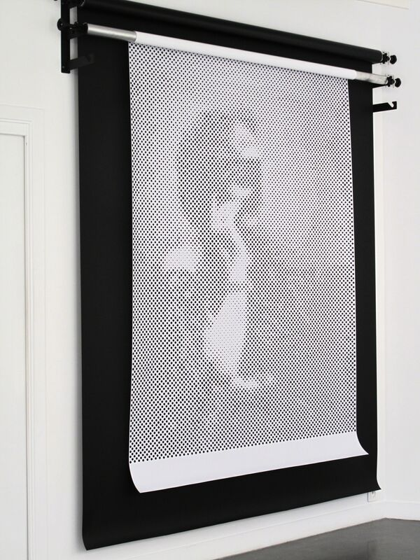Isabelle Le Minh, 'Piercing', 2015, Installation, Photo studio backdrop, hand pierced photograph, Galerie Christophe Gaillard