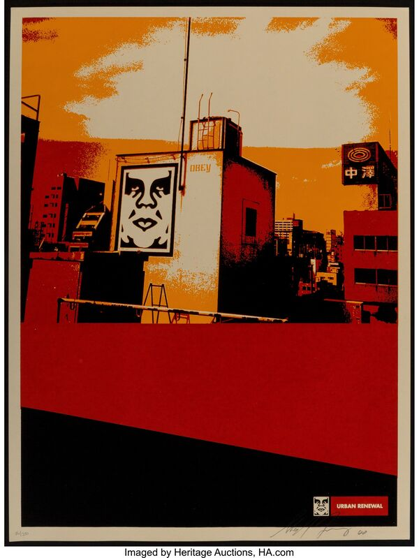 Shepard Fairey, 'Osaka Roof, from Urban Renewal Series', 2000, Print, Screenprint in colors on paper, Heritage Auctions