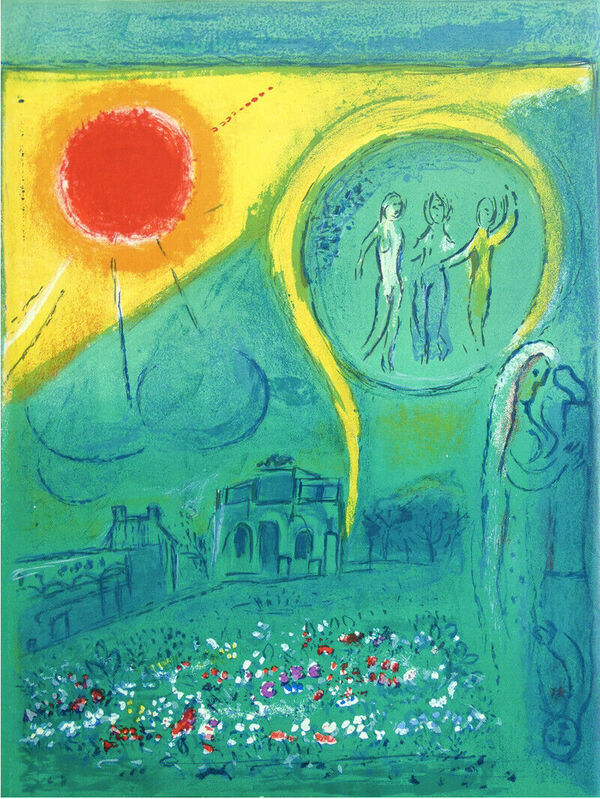 Marc Chagall, 'Paris Carrousel of the Louvre 1954', 1954, Print, Original Lithograph in Colors on Wove Paper, NCAG