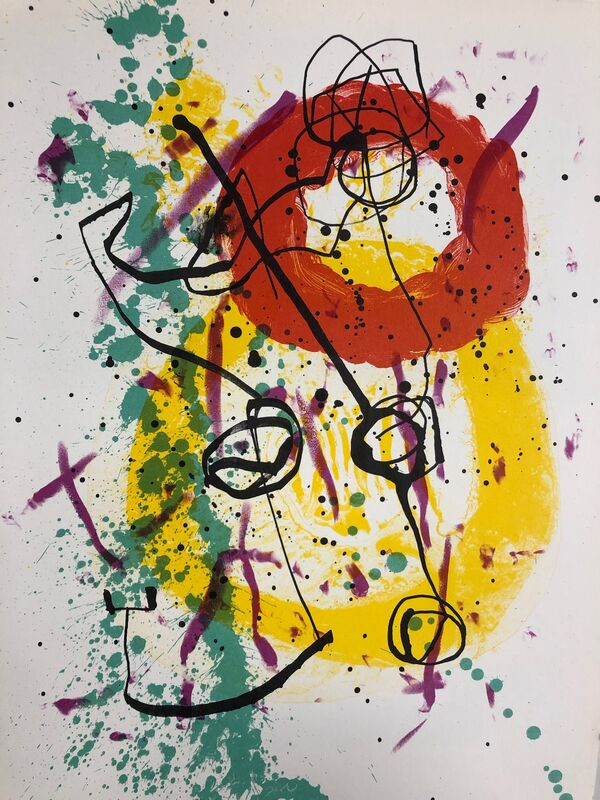 Joan Miró, 'Soleil Rouge', 1961, Print, Original lithograph on wove paper, Samhart Gallery