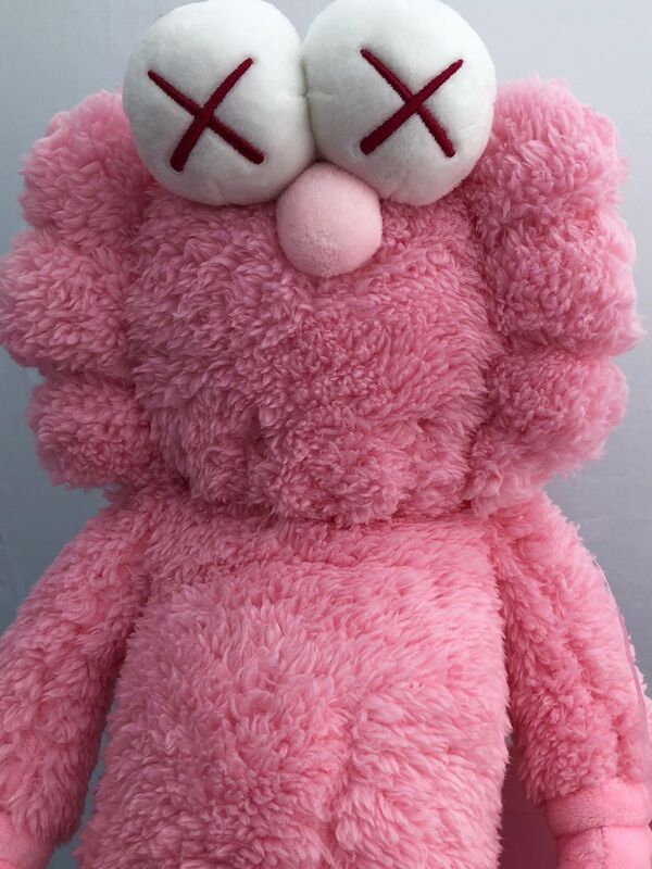 KAWS, 'KAWS Pink BFF Plush (KAWS BFF pink) ', 2019, Sculpture, Plush figurine, Lot 180