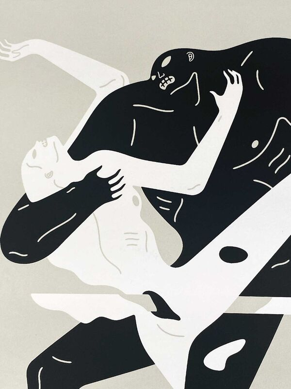 Cleon Peterson, ''Between the Sun and Moon' (bone)', 2021, Print, Hand-pulled screen print in black and bone on deckled edge 290gsm Coventry Rag fine art paper., Signari Gallery