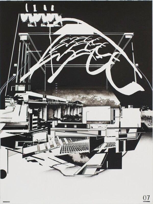 Hiroki Tsukuda, 'Untitled_bots03', 2014, Painting, Black ink and charcoal on paper, Nanzuka