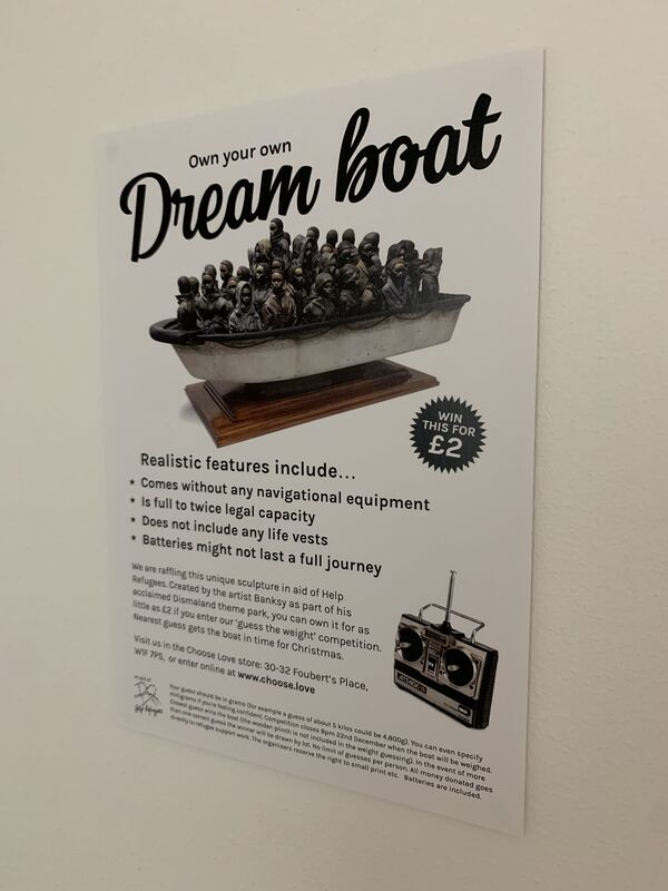 """Banksy, 'BANKSY """"OWN YOUR OWN DREAM BOAT"""" FLYER', 2018, Ephemera or Merchandise, Quality paper, Arts Limited"""