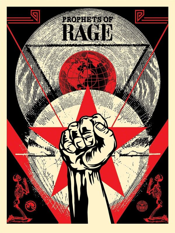 Shepard Fairey, 'Prophets of Rage - New Day Rising', 2019, Print, Speckletone paper, AYNAC Gallery