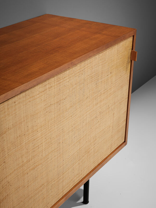 Florence Knoll, 'Early Florence Knoll Walnut Credenza with Cane Sliding Door', 1961, Design/Decorative Art, Cane, oak, and metal, MORENTZ