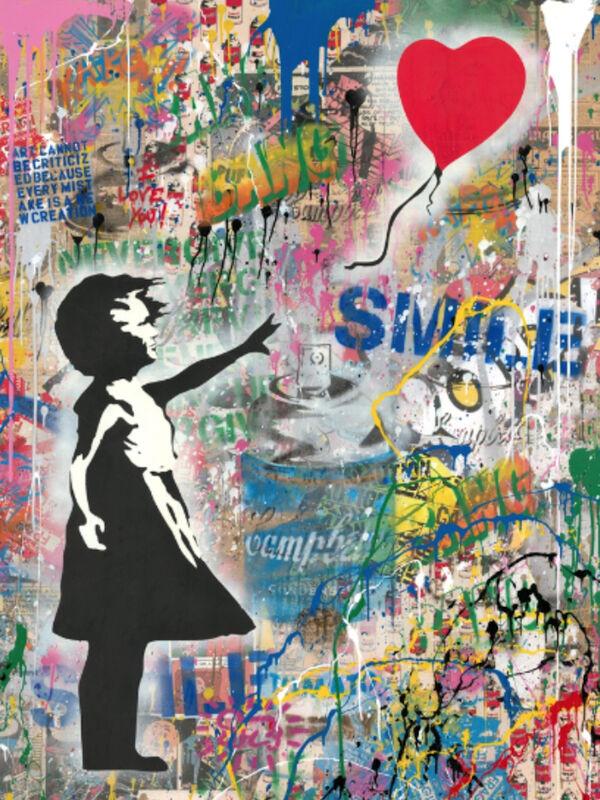 Mr. Brainwash, 'Balloon Girl Large', 2019, Mixed Media, Silkscreen, mixed media, Frank Fluegel Gallery
