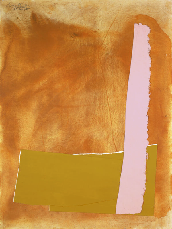 Robert Motherwell, 'Altamira No. 3', 1976, Painting, Acrylic, pasted papers, and crayon on canvas mounted on board, Dedalus Foundation