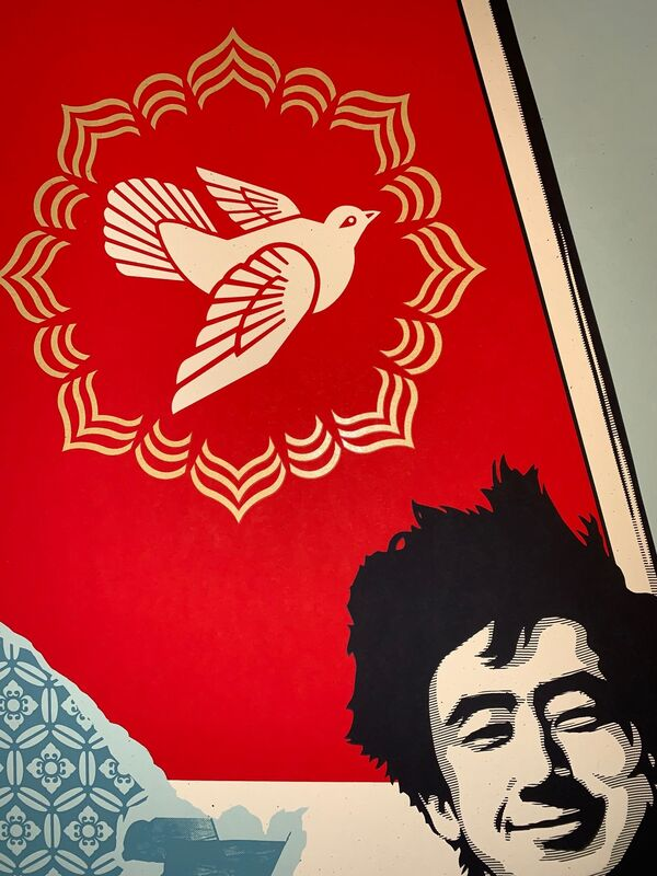 Shepard Fairey, 'Shepard Fairey Long Live The People Collaboration with Ed Nachtrieb Diptych Set Matching Numbers', 2020, Print, Fine Art Paper On Cream Speckletone, New Union Gallery