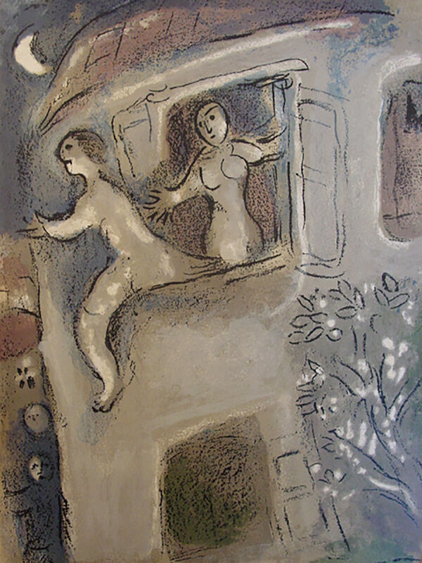 Marc Chagall, 'David Saved by Michal', 1960, Print, Lithograph, Georgetown Frame Shoppe