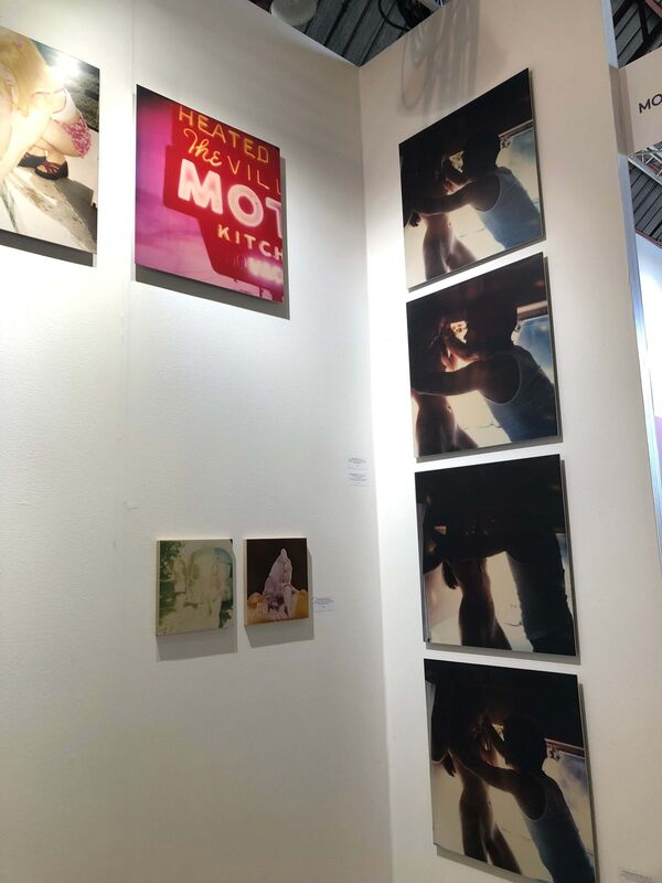 Stefanie Schneider, 'Love Scene against the Wall (Sidewinder) analog and mounted, based on 4 Polaroids', 2005, Photography, 4 Analog C-Prints, hand-printed by the artist on Fuji Crystal Archive Paper, based on a 4 original SX-70 Polaroids, mounted on Aluminum with matte UV-Protection, Instantdreams