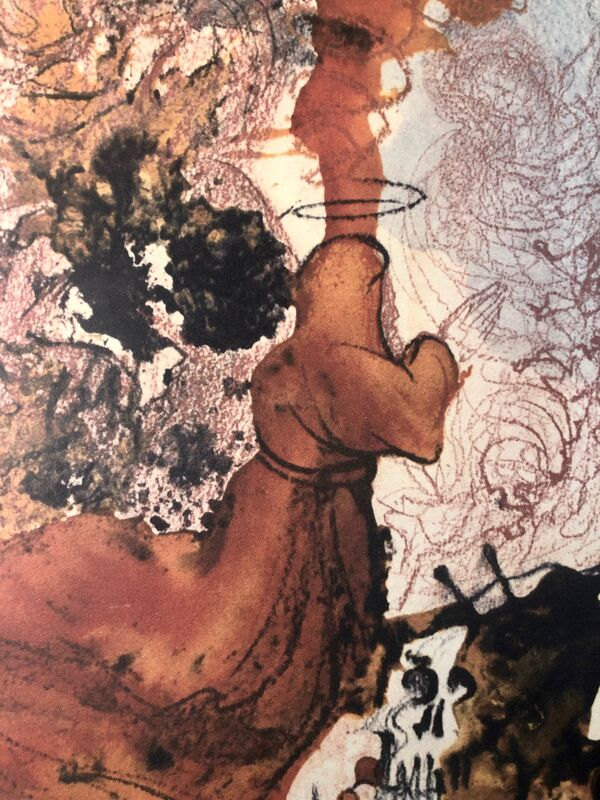 Salvador Dalí, 'A Corpse in The Tomb Of Elisha, 'Cadaver In Sepulchro Elisei', Biblia Sacra', 1967, Print, Original Lithograph, Inviere Gallery