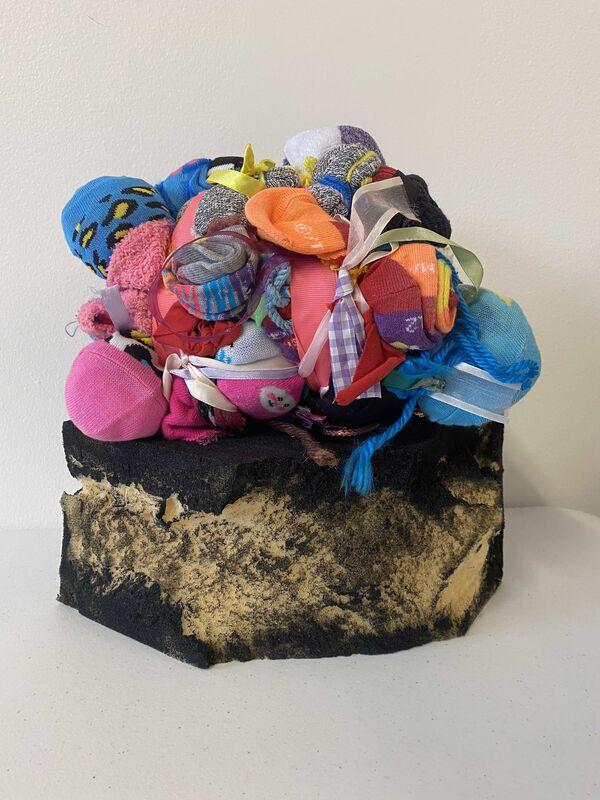 Shinique Smith, 'A Little Celebration', 2020, Sculpture, Socks, fabric, ribbons, yarn, high-density foam, acrylic, Gavlak