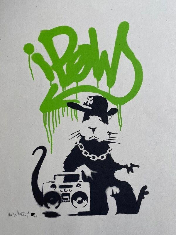 Banksy, 'Gangsta Rat (AP - Green)', 2005, Print, Screenprint in colors on wove paper, MoonStar Fine Arts Advisors