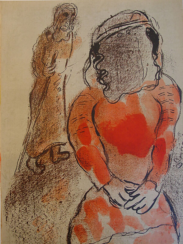 Marc Chagall, 'Tamar, Daughter-in-Law of Judah', 1960, Print, Lithograph, Georgetown Frame Shoppe