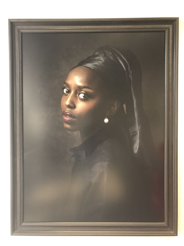 Jenny Boot, 'Jenny Boot, Black Girl with Pearl', 2016, Photography, Canson Infinity Platine Fibre Paper, Oliver Cole Gallery