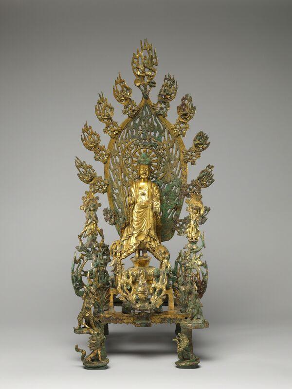Unknown Chinese, 'Buddha Maitreya (Mile) (北魏正光五年 青銅鎏金彌勒佛像)', 524, Sculpture, Gilt bronze, The Metropolitan Museum of Art