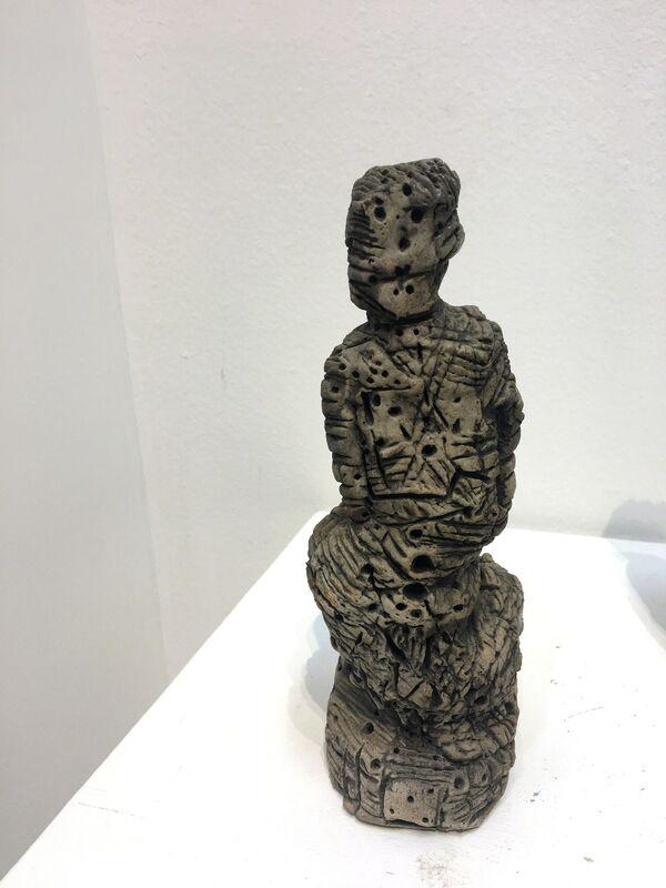 Lee Mullican, 'Guardian Figure', ca. 1980, Sculpture, Wood-fired ceramic, 203 Fine Art