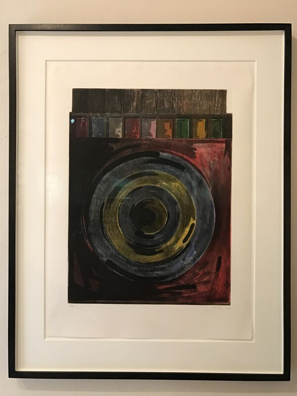 Jasper Johns, 'Target with Plaster Casts', 1979-1980, Print, Etching and aquatint in colors on BFK Rives paper, Gregg Shienbaum Fine Art