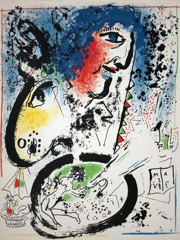 Marc Chagall, 'Self Portrait-Frontespiece', 1960, Print, Lithograph, ArtWise