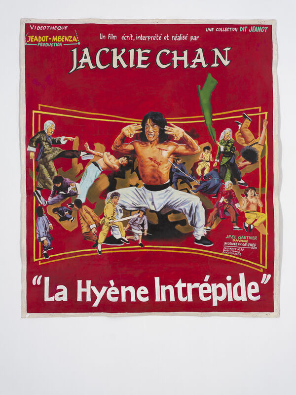 """JP Mika, 'Jackie Chan """"La Hyène Intrépide""""', 2019, Drawing, Collage or other Work on Paper, Oil on paper, Magnin-A"""