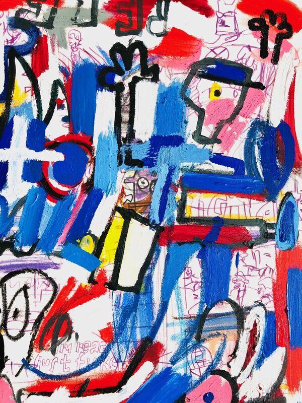 Jonas Fisch, 'The Rookie', 2019, Painting, Acrylic, Oil Stick on Canvas, Belhaus