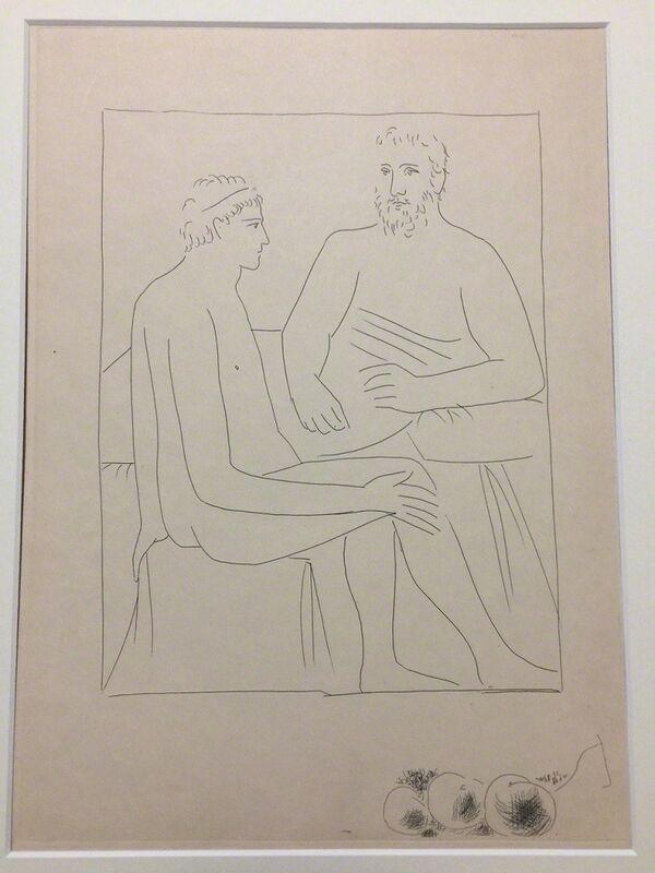 """Pablo Picasso, 'Numa suit les Cours de Pythagore - From """"Les Métamorphoses d'Ovide""""', 1931, Print, Etching, Wallector"""