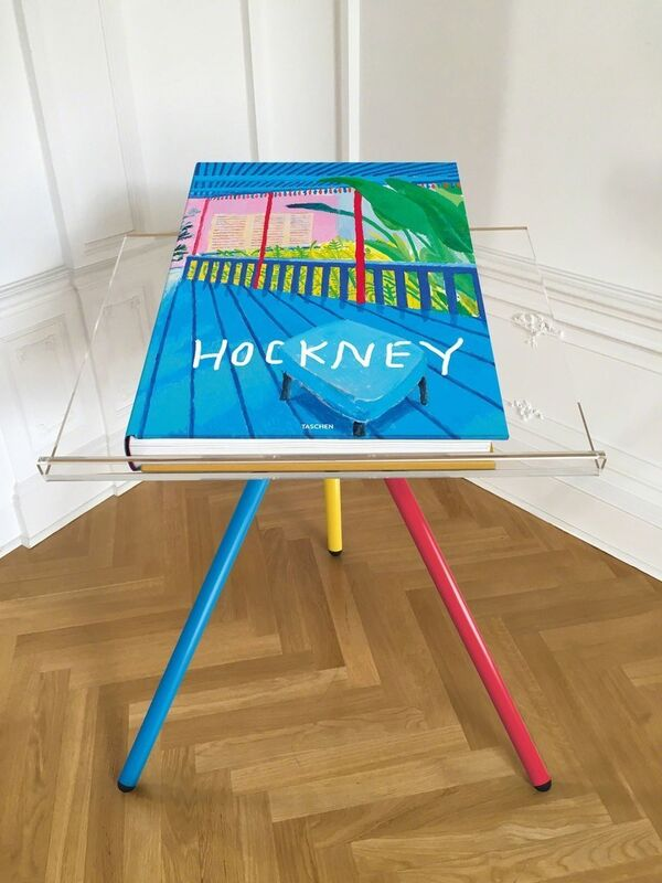 David Hockney, 'A Bigger Book', 2016, Other, Hardcover, 498 pages, 13 fold-outs, with an adjustable bookstand designed by Marc Newson, plus an illustrated 680-page chronology book, Edition of 9000, Cynthia Corbett Gallery