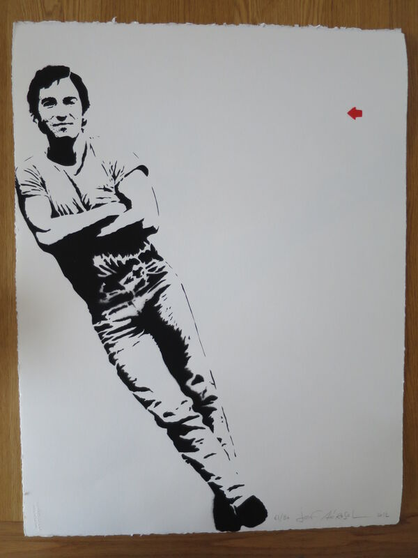 Jef Aérosol, 'Bruce Springsteen', 2012, Drawing, Collage or other Work on Paper, Silkscreen, AYNAC Gallery