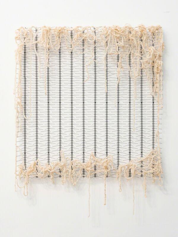 Rodrigo Matheus, 'Margin', 2018, Sculpture, Carbon steel bird spikes and wool, Fortes D'Aloia & Gabriel