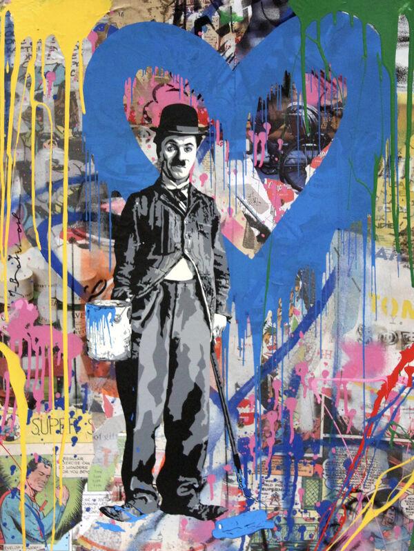 Mr. Brainwash, 'Chaplin', 2018, Mixed Media, Silkscreen, Mixed Media and Cement on Paper, Cha Cha Gallery