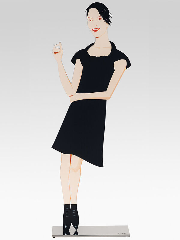 Alex Katz, 'Black Dress 7 (Carmen)', 2018, Sculpture, Cutout from shaped powder-coated aluminum, printed the same on each side with UV cured archival inks, clear coated, and mounted to 1/4 inch stainless steel base, Haw Contemporary