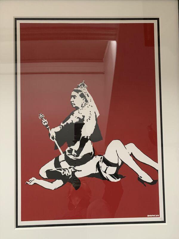 Banksy, 'Queen Vic', 2003, Print, Screen-print in colors on wove paper, MoonStar Fine Arts Advisors