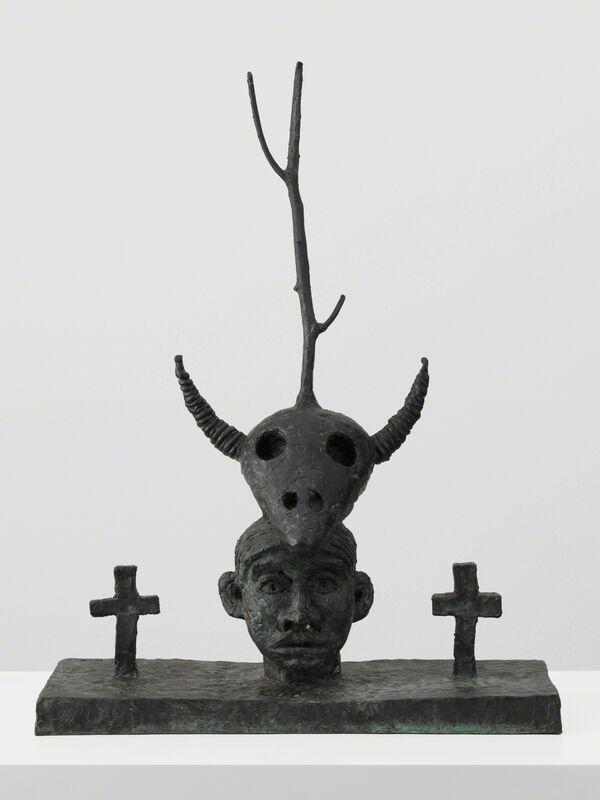 Walter Dahn, 'Die natürliche Dreifaltigkeit', 1985, Sculpture, Patinated Bronze, Galerie Andrea Caratsch
