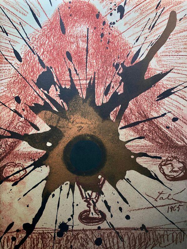 Salvador Dalí, 'The Blood Of The New Covenant, 'Sanguis Novi Testamenti', Biblia Sacra', 1967, Print, Original Lithograph, Inviere Gallery