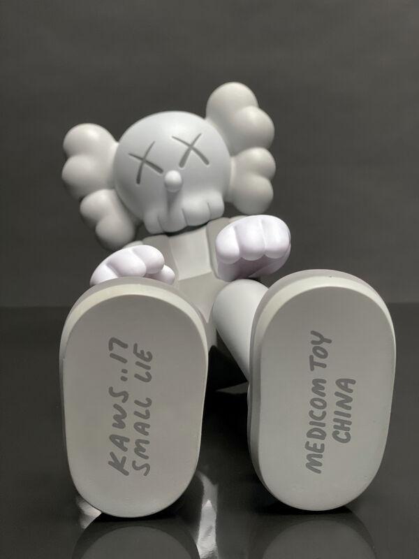 KAWS, ''Small Lie' Vinyl Art Toy, Grey ', 2017, Sculpture, Vinyl, Acrylic, Plastic, Arton Contemporary