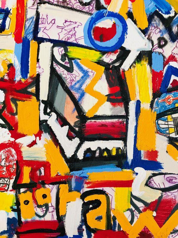 Jonas Fisch, 'Hollywood Smoke Screen', 2019, Painting, Acrylic, Oil Stick on Canvas, Belhaus