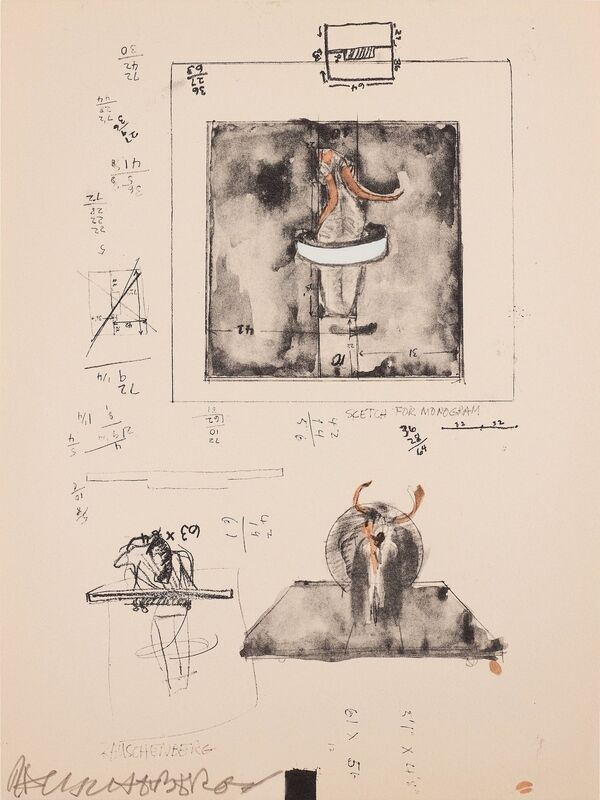 Robert Rauschenberg, 'Sketch for Monogram', 1973, Print, Screenprint with lithograph printed in colours, Forum Auctions