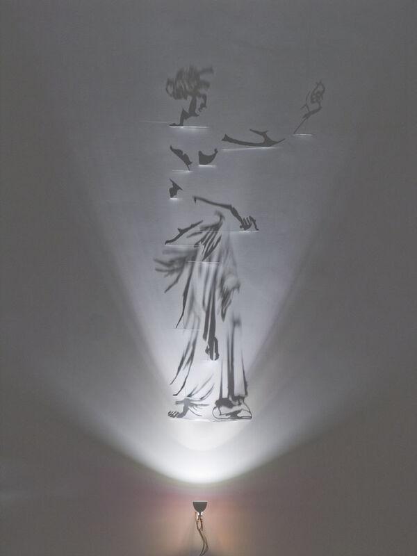Fabrizio Corneli, 'Afrodite di Capua', 2015, Sculpture, White painted brass, halogen lamp, shadows, Studio Trisorio
