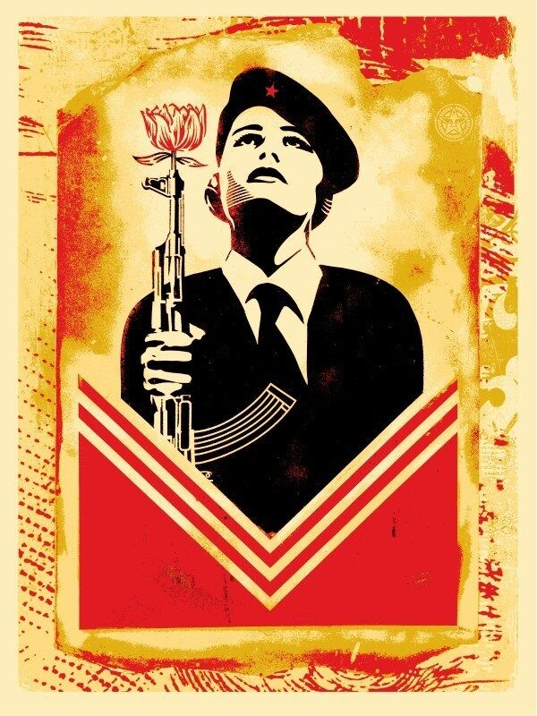 Shepard Fairey, 'Peace Guard 2 Stencil (Lisbon)', 2017, Print, Screen print on cream Speckletone paper, Urban Spree Galerie