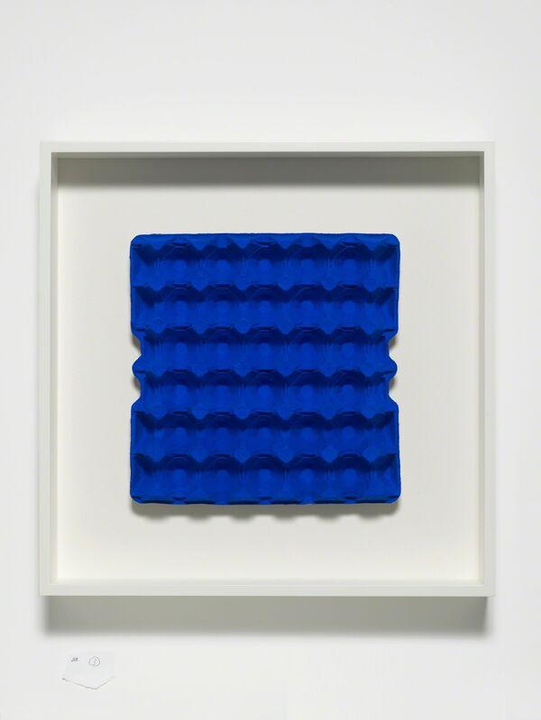 Gavin Turk, 'Klein Blue Box', 2017, Painting, Fine art pigment print on cardboard, wooden frame, Galerie Krinzinger