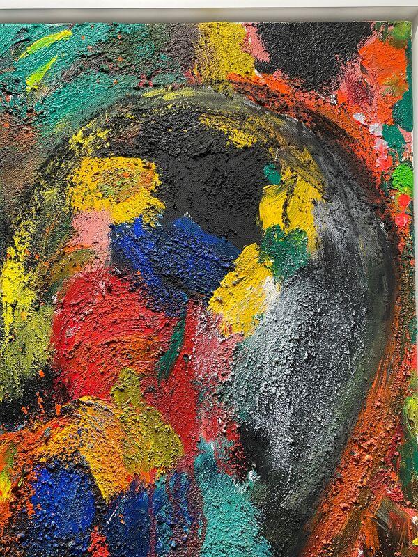 Jim Dine, 'Burning Crayola ', 2009, Painting, Acrylic, charcoal and sand on canvas, Mark Deutsch Fine Art