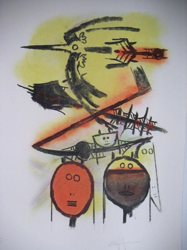 Wifredo Lam, 'Sans Titre II', 1981, Print, Lithograph, Denis Bloch Fine Art