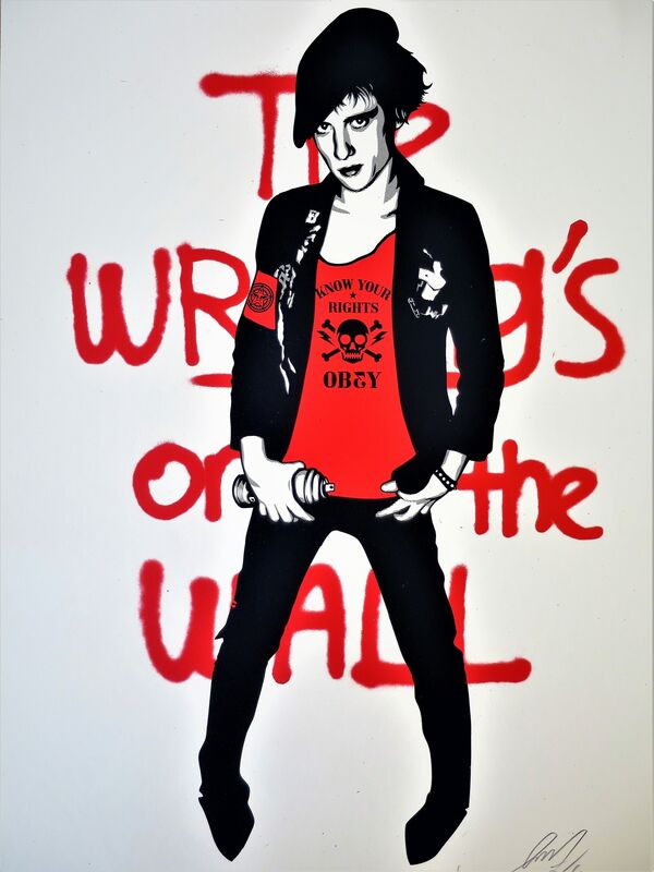 Shepard Fairey, 'Writing on the Wall', 2010, Print, Speckletone paper, AYNAC Gallery