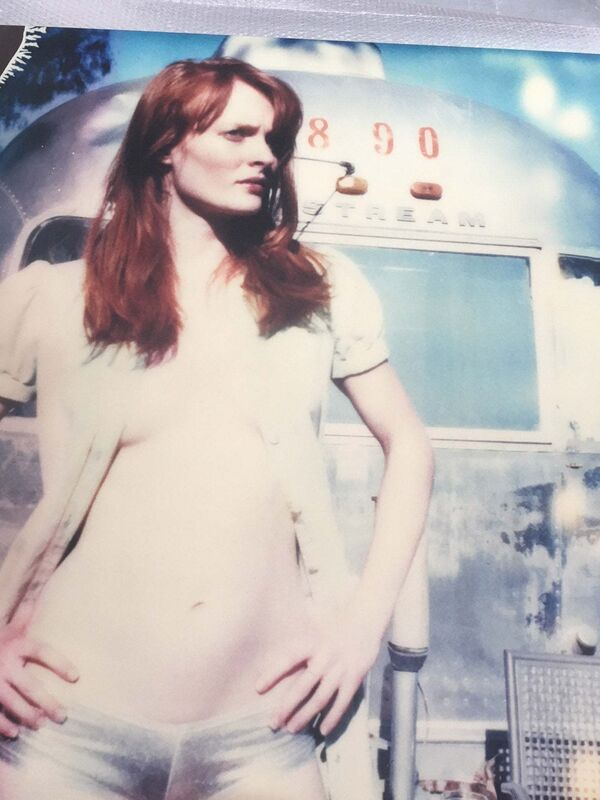 Stefanie Schneider, 'Daisy in front of Trailer (Till Death do Us Part ) ', 2005, Photography, Analog C-Print, hand-printed by the artist on Fuji Crystal Archive Paper, matte surface, based on a Polaroid, Instantdreams