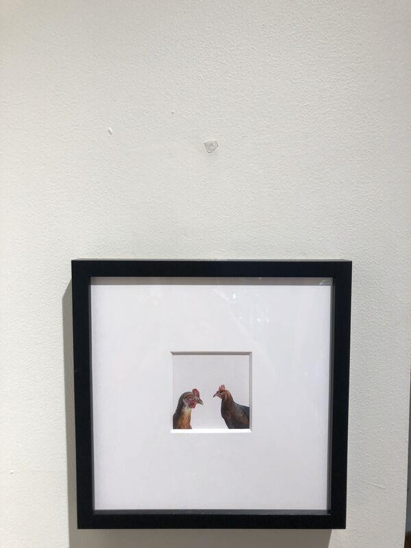 Dina Brodsky, 'Chickens', 2018, Painting, Gouache on paper, Garvey | Simon