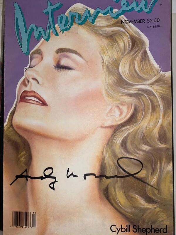 Andy Warhol, 'Interview Magazine signed by Andy Warhol (Cybill Shepherd)', 1986, Ephemera or Merchandise, Offset on magazine cover, Verosa