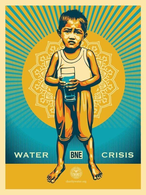 Shepard Fairey, 'BNE X Shepard Fairey (CharityWater.org)', 2013, Print, Screen Print, artrepublic