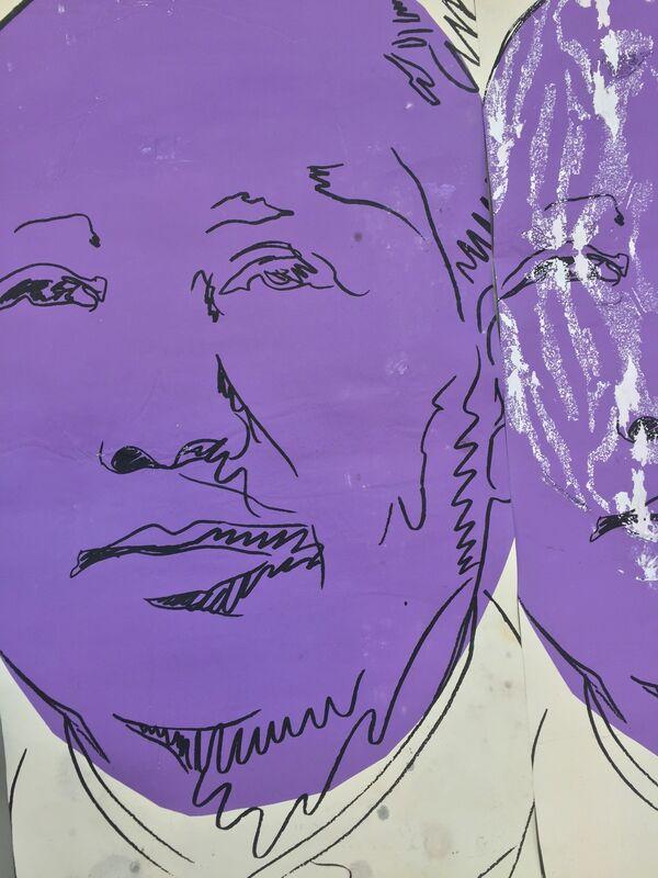 Andy Warhol, 'Mao original wallpaper from inside the museum.', 1974, Ephemera or Merchandise, Screenprint on paper, MultiplesInc Projects