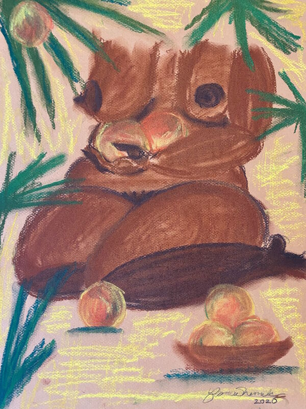 Bianca Nemelc, 'Came to Collect My Fruit', 2020, Painting, Pastel on Paper, ARTNOIR Benefit Auction